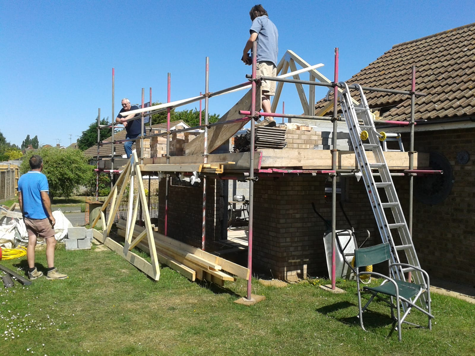 Small extension being built