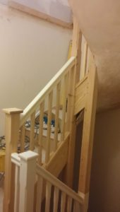 Double wind stairs installed