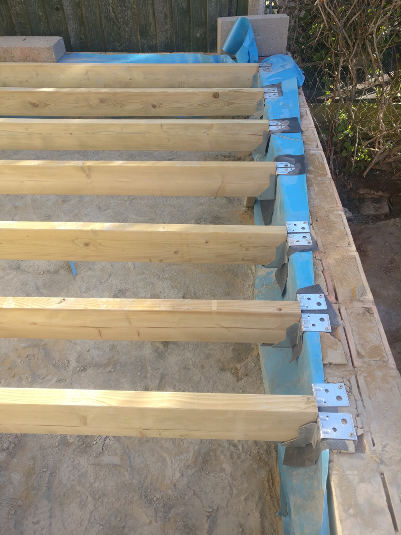 Joists installed