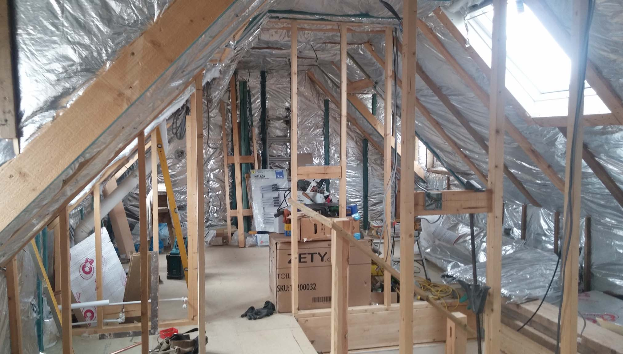 Loft insulated with multifoil